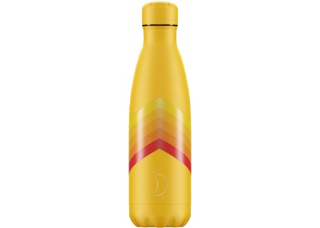 Chillys Bottle RETRO STRIPE YELLOW 500ML