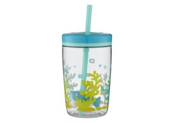 Παιδικό Ποτήρι Contigo Floating Straw Kids Tumbler Shark 470ml